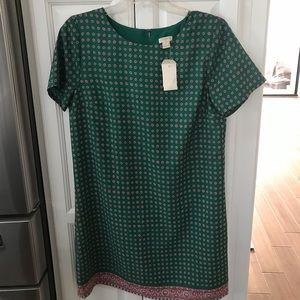 J Crew green tunic dress